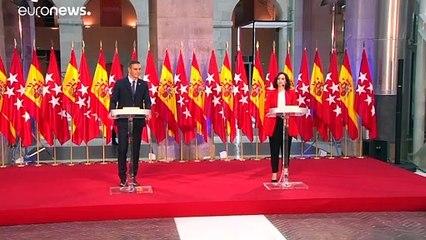 Sánchez y Ayuso entierran el hacha de guerra y cooperarán para salvar Madrid
