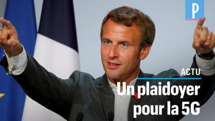 Macron défend la 5G contre« le modèle amish »