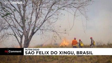 Bombeiros sem meios para combater chamas na Amazónia