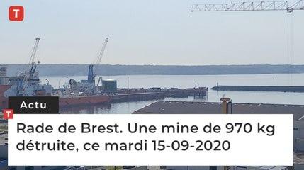 Rade de Brest. Une mine de 970 kg  détruite, ce mardi 15-09-2020