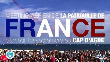 LE CAP D'AGDE - Show aérien deLa Patrouille de France le samedi 19 septembre 2020