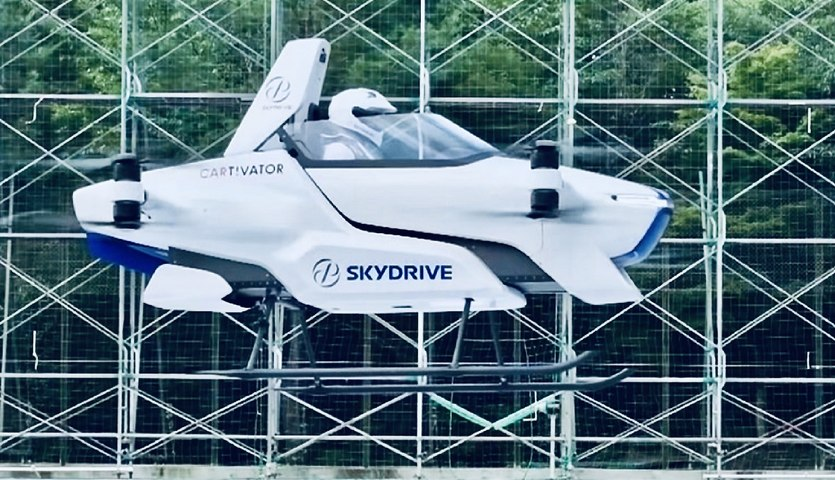 Manned Electric Flying Car Successfully Tested In Japan