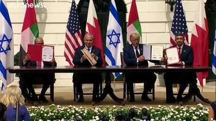 Acordo controverso ratificado na Casa Branca