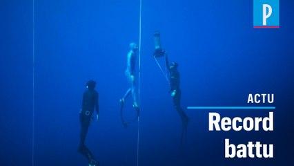 Apnée: Arnaud Jérald bat le record du monde en bi-palmes à 112 m de profondeur