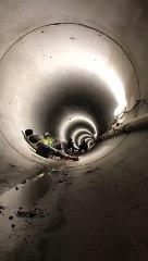 Onde de choc impressionnante dans un tunnel
