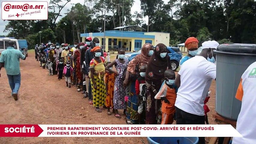 Premier rapatriement volontaire post-Covid- Arrivée de 61 réfugiés ivoiriens en provenance de la Guinée