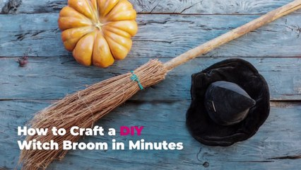 How to Craft a DIY Witch Broom in Minutes