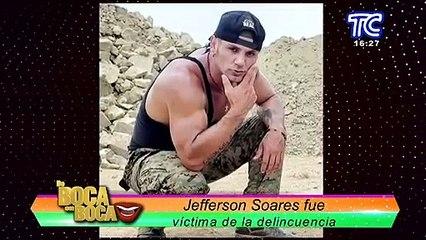 Jefferson Soares fue víctima de la delincuencia, as´´i ocurrió el robo