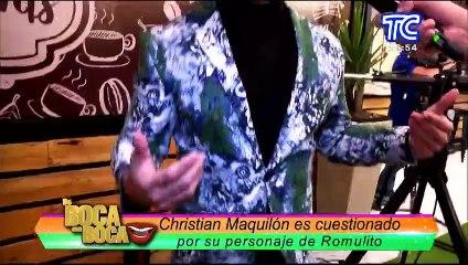 """Christian Maquilón responde ante las críticas por su personaje """"Romulito"""" en la novela Antuca me enamora"""