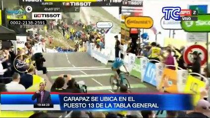 Carapaz se ubica en el puesto 13 del Tour de Francia: así lo vive su familia