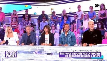 """Guillaume Genton revient sur l'histoire du sexe tordu de Christian Quesada dans """"Touche pas à mon poste"""" (C8) le 16 septembre 2020."""