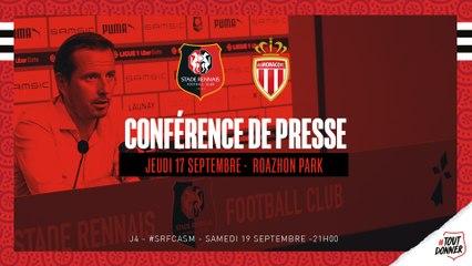 Conférence de presse avant SRFC/Monaco : Julien Stéphan