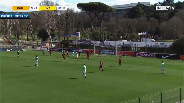 La grosse frappe de Lucien Agoumé pour arracher le match nul avec l'Inter U19