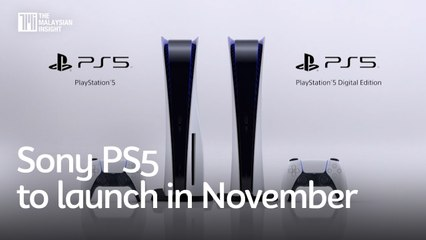 Sony PS5 to launch in November