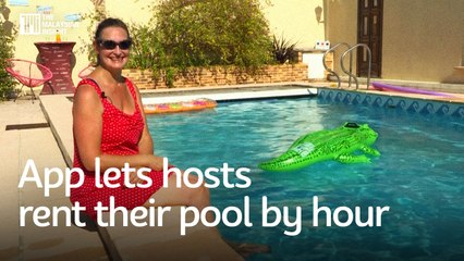App lets hosts rent their pool by hour