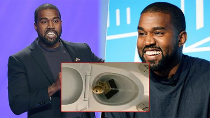 Kanye West Tweets A Video Of Grammy Award In A 'Commode'
