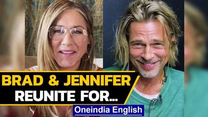 Brad Pitt & Jennifer Aniston reunite for a good cause | Oneindia News