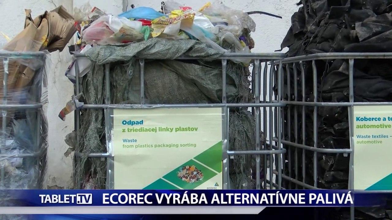 Firma ecorec vyrába alternatívne palivá