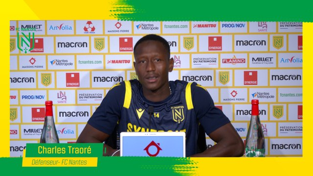 La conférence de presse de Charles Traoré  avant FC Nantes - AS Saint-Etienne