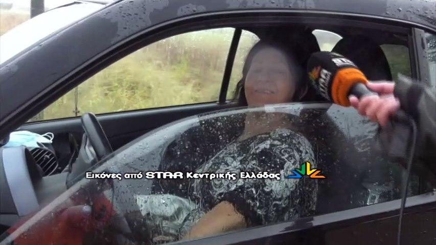 Δηλώσεις εγκλωβισμένων οδηγών στην Ε.Ο. Λαμίας - Καρπενησίου