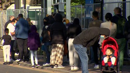 Long queues as public vent frustration over testing