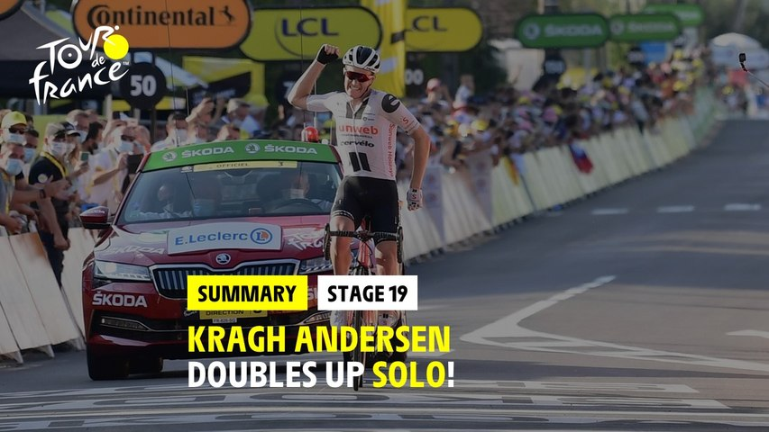#TDF2020 - Stage 19 - Kragh Andersen doubles up solo !