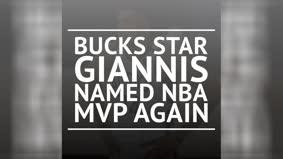 Breaking News – Giannis named 2019-20 NBA MVP