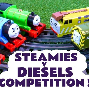 Thomas and Friends Steamies versus Diesels in a Competition Race Challenge with the Funny Funlings in this Family Friendly Full Episode English Toy Story for Kids from Kid Friendly Family Channel Toy Trains 4U