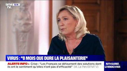 """Coronavirus: pour Marine Le Pen, """"on a le sentiment que ça fait huit ou neuf mois qu'on patauge"""""""