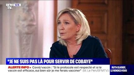 "Coronavirus: Marine Le Pen se fera vacciner ""si le protocole est respecté et le vaccin efficace"""