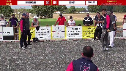 National à pétanque de Bourbon-Lancy 2020 : Quart SENEZERGUES vs GEYNET