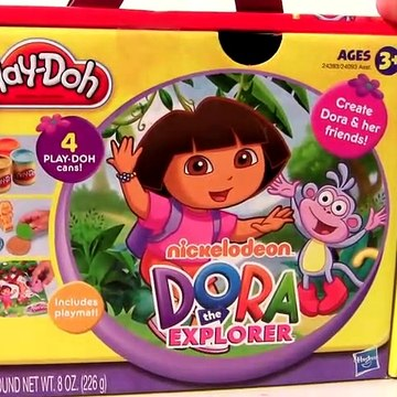 Play Doh Dora the Explorer With Diego Nickelodeon toys review playdough review by Funtoys
