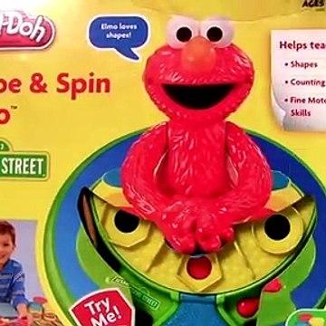Play Doh Elmo Shape & Spin Cookie Monster Cars Lightning McQueen Disney Pixar playdough Playset