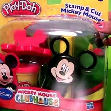 Play Doh Mickey Stamp & Cut - Mickey Mouse Clubhouse With Goofy-Mater & Sally Disneyplaydough