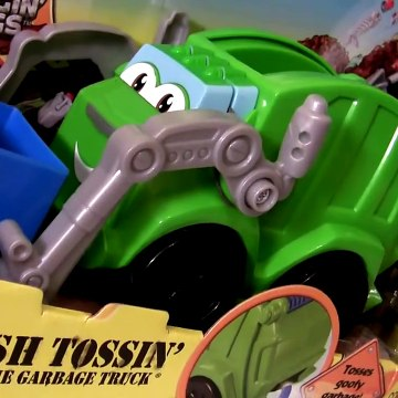 Play Doh Trash Tossin' Rowdy the Garbage Truck Tonka Chuck & Friends Lightning McQueen Mater Cars