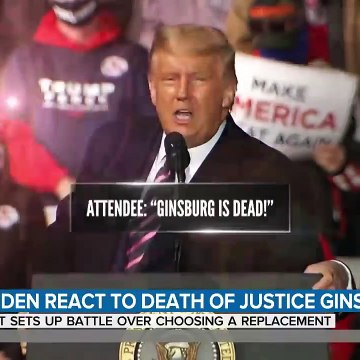 Trump, Biden React To The Death Of Ruth Bader Ginsburg - TODAY
