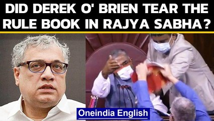 Derek O' Brien claims didn't tear the rule book in Rajya Sabha