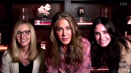 Jennifer Aniston, Courteney Cox & Lisa Kudrow Jimmy Kimmel Emmy (ABC)