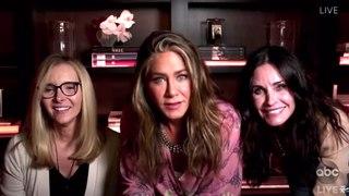 Jennifer Aniston, Courteney Cox & Lisa Kudrow Jimmy Kimmel Emmy (ABC)