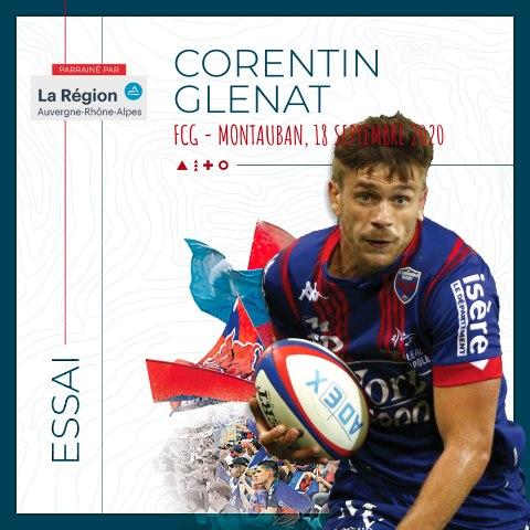 Video : Video - L'essai de Corentin Glenat contre Montauban, saison 2020-2021