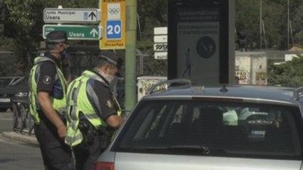 Primer día de restricciones a la movilidad en 37 zonas de Madrid