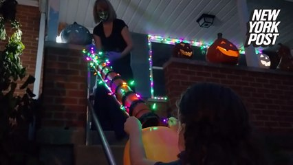 Halloween candy chute is a 'tricky' way to socially distance