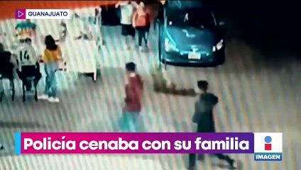 Asesinan a policía de tránsito mientras cenaba con su familia