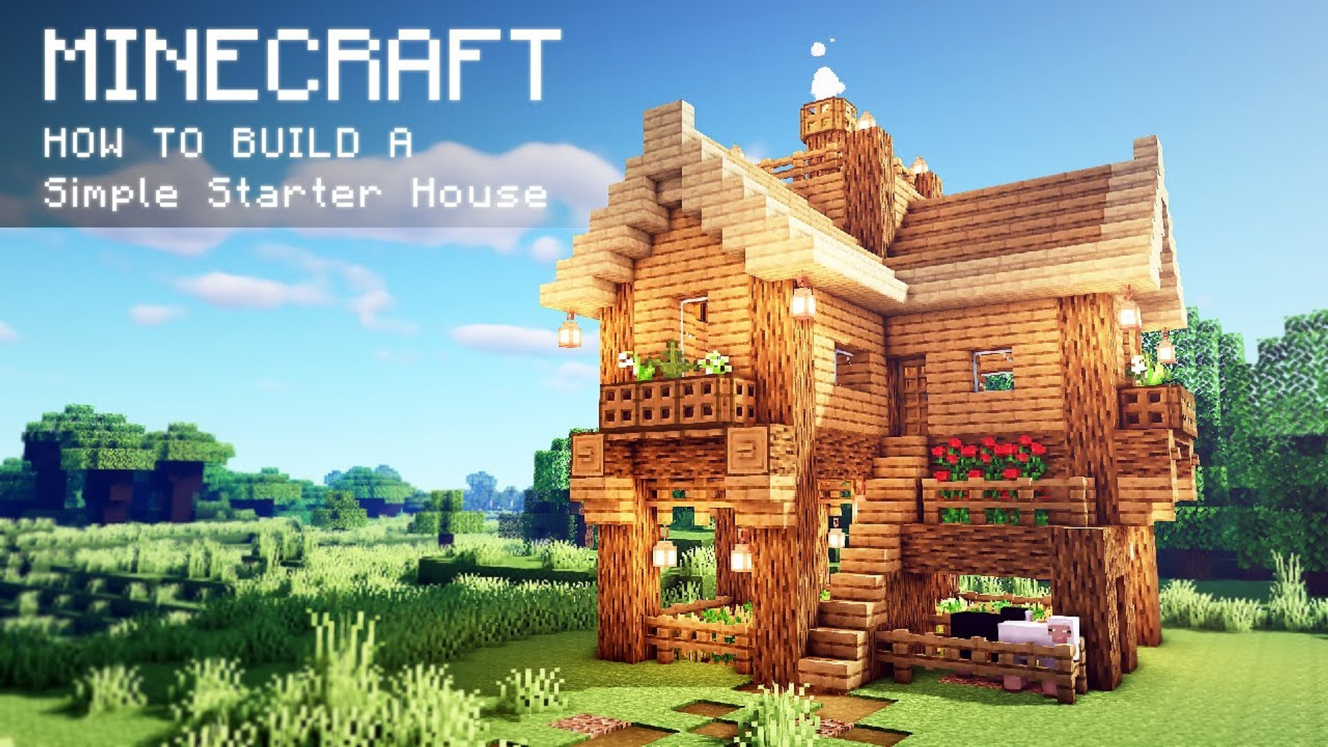 Minecraft How To Build A Easy Starter Cabin Video Dailymotion