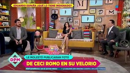 ¡MOLESTO! Lalo España está indignado por la foto del funeral de Ceci Romo