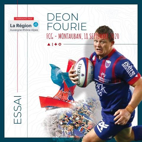 Video : Video - L'essai de Deon Fourie contre Montauban, saison 2020-2021