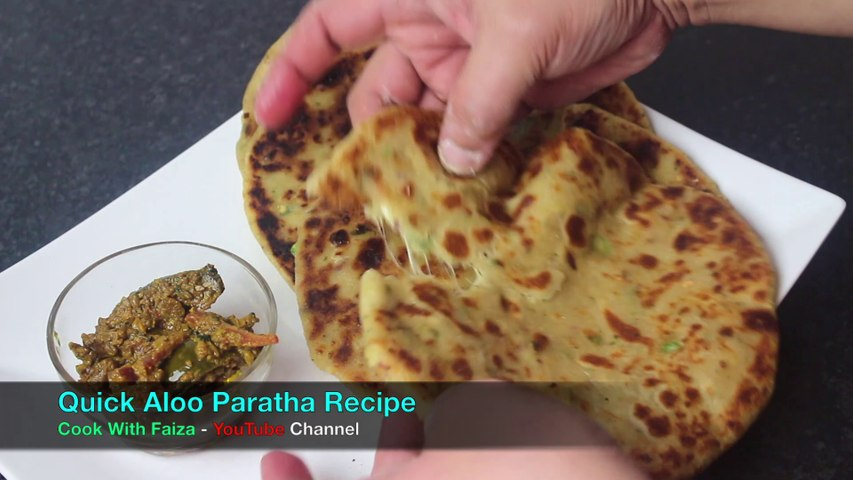 Quick Aloo Paratha Recipe By Cook With Faiza