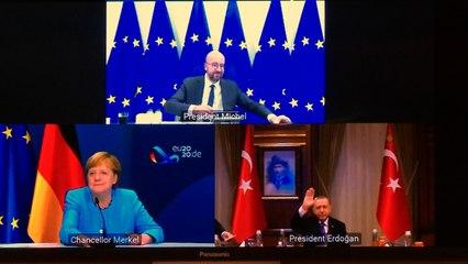 Reunión trilateral de Merkel, Michel y Erdogan