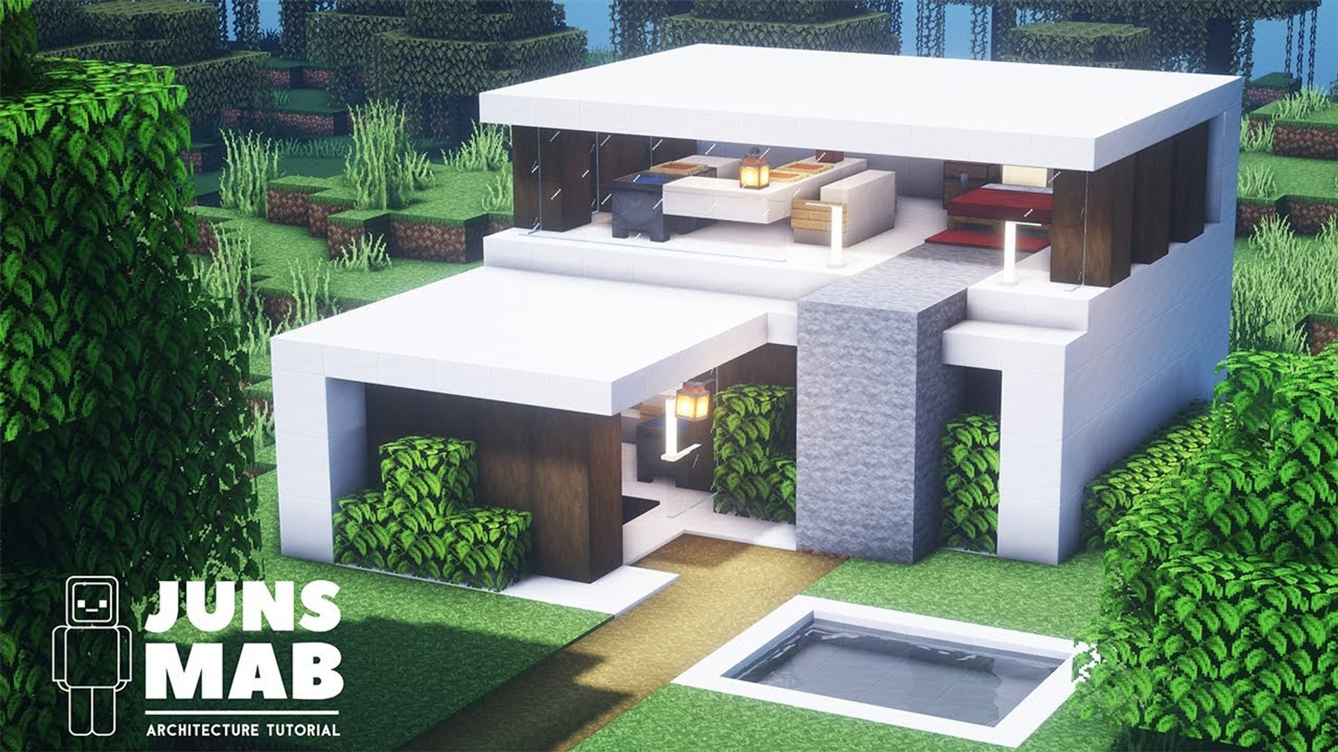 Minecraft Smallest House How To Build A Modern House In Minecraft 135 Video Dailymotion