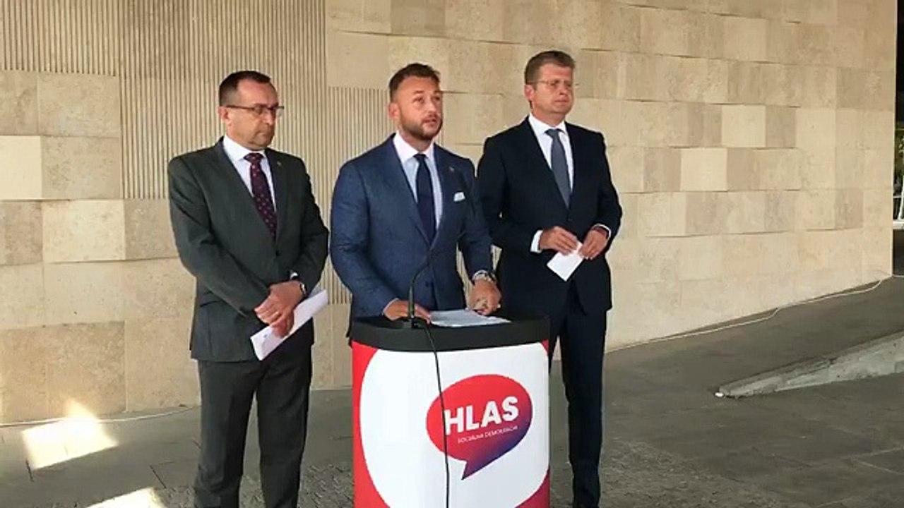 ZÁZNAM: Brífing predstaviteľov vznikajúcej strany Hlas-SD